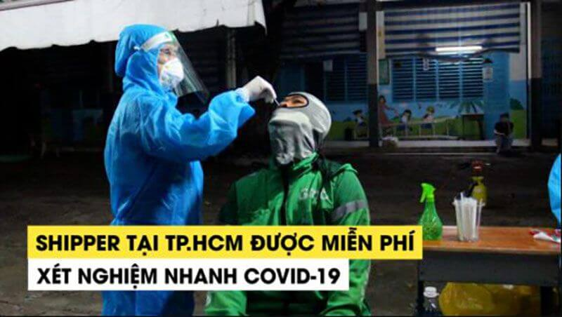 shipper tai tphcm duoc mien phi xet nghiem covid19 | qh88